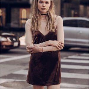 COTTON CANDY LA velvet slip dress